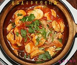 番茄煮日本豆腐金针菇的做法