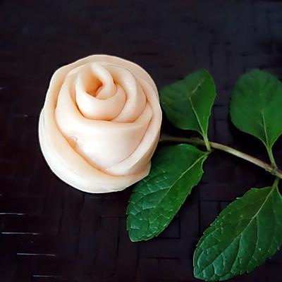 淡粉玫瑰花馒头