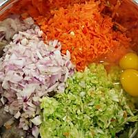 彩色蔬菜鸡蛋饼的做法图解1