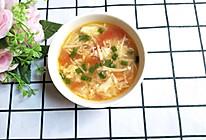 #今天吃什么#番茄金针菇鸡蛋汤的做法