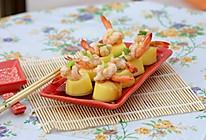 鲜虾蒸鸡蛋豆腐的做法