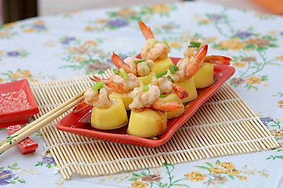 鲜虾蒸鸡蛋豆腐