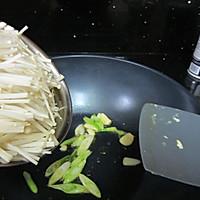 金针菇炒鸡蛋的做法图解4