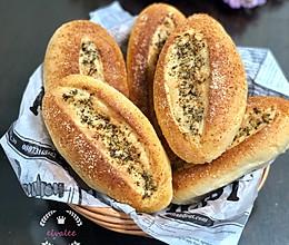 波兰种一次发酵咸面包(欧芹芝士蒜香面包)的做法