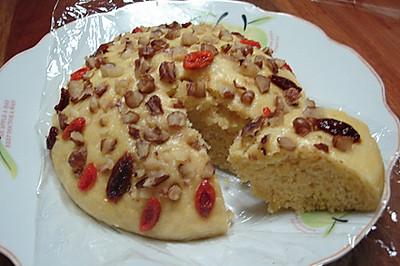 玉米面核桃发糕