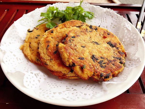 紫菜葱花豆渣煎饼的做法