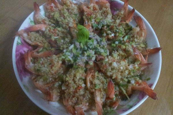 蒜蓉大明虾的做法