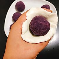 Q弹软糯椰蓉紫薯糯米糍 宝宝喜欢的简单快手小吃下午茶的做法图解9