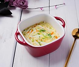 蔬菜银鱼蒸蛋的做法
