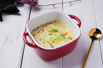 蔬菜银鱼蒸蛋