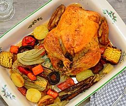 中西结合之完美香草烤鸡的做法