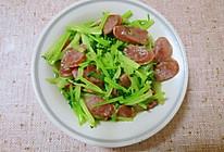 鲜美香肠炒芹菜的做法