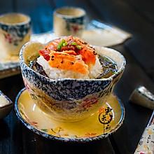 三文鱼梅子茶泡饭#铁釜烧饭就是香#