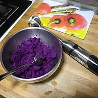 奶香紫薯饼的做法图解1