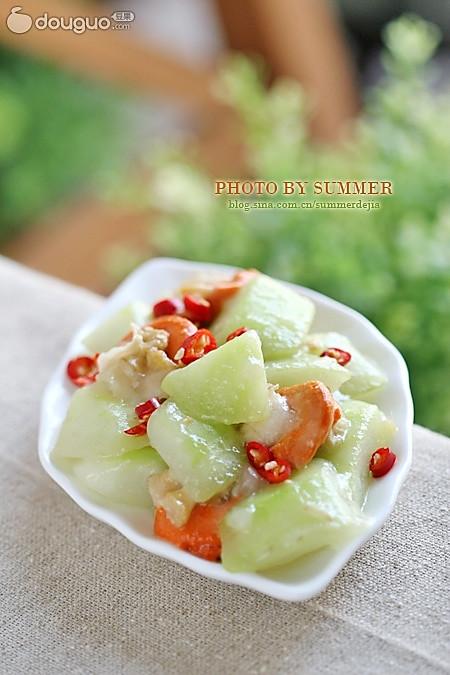 扇贝炒瓠瓜的做法