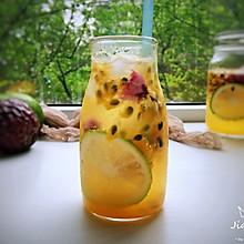 #精品菜谱挑战赛#百香果柠檬气泡水