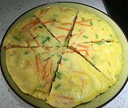 早餐饼 三角饼 胡萝卜鸡蛋饼的做法