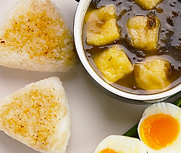 日式香糯烤饭团|太阳猫早餐的做法