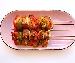 烤箱版彩椒烤鸡肉串,有颜又有料‼️的做法