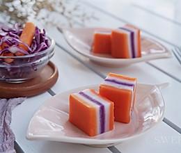 三色果蔬粘米糕的做法
