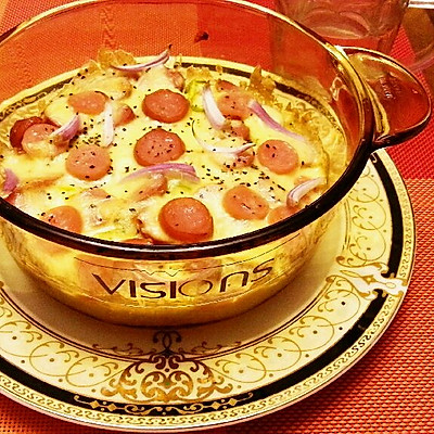 奶酪焗饭:剩米饭的华丽转身