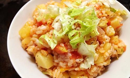 #梅太厨房#黑椒土豆闷饭的做法
