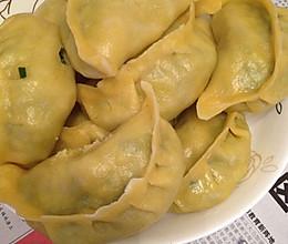 韭菜虾皮玉米面蒸饺的做法