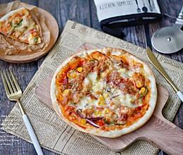 奥尔良鸡肉薄底披萨的做法