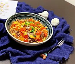 西红柿鸡蛋卤 荞麦面的做法