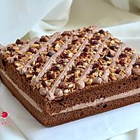 可可奶油果仁蛋糕#美的烤箱菜谱#的做法图解26