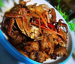 鸡煲蟹的做法