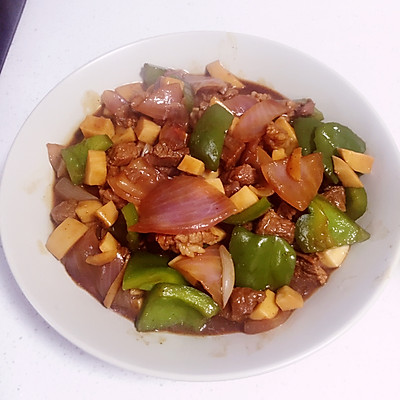 牛肉杏鲍菇粒