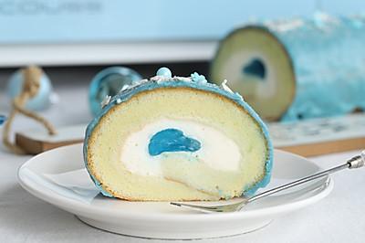 梦龙脆皮蛋糕卷的另一种浪漫,蓝得很nice