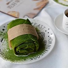 网红甜品:抹茶芒果毛巾卷~