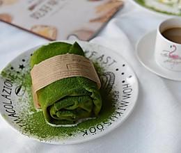网红甜品:抹茶芒果毛巾卷~的做法