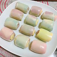 马卡龙色千层蛋黄酥 中式糕点#每道菜都是一台食光机#的做法图解19