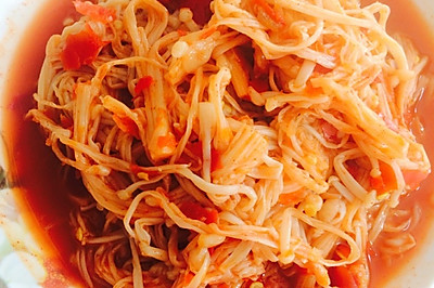 【开胃小菜】剁椒拌金针菇