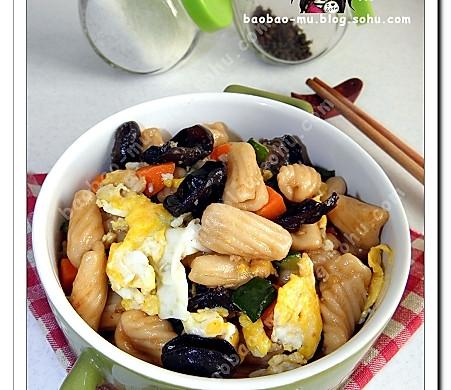 杂菜炒麻食