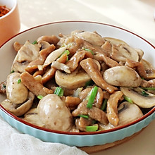 【蘑菇炒肉】#今天吃什么#