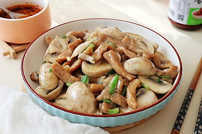 【蘑菇炒肉】