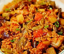 好吃到怀疑人生的懒人电饭煲茄子烧肉焖饭!巨下饭!的做法