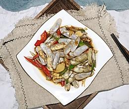 #秋天怎么吃#蚝油炒蛏子的做法