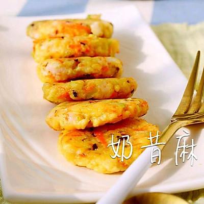 鲜虾奶酪蔬菜饼