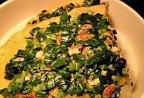 韭菜虾皮玉米饼的做法