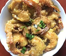 茶松蛋酥虾的做法