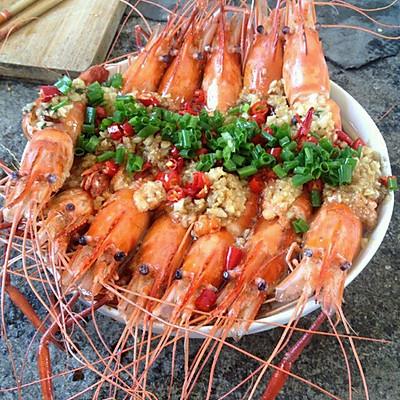 蒜泥油淋大海虾
