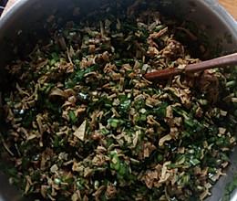 韭菜豆皮猪肉包包子馅的做法