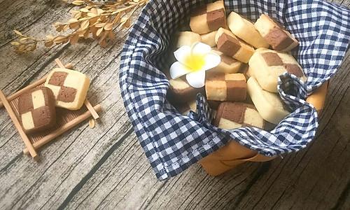 双色格子棋盘饼干#给老爸做道菜#的做法