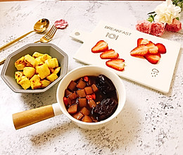 #经期早餐#山药红枣血糯粥套餐的做法