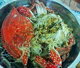 螃蟹蒸粉丝的做法